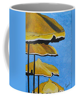 Lounging Under The Umbrellas On A Bright Sunny Day Coffee Mug