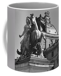 Louvre Man On Horse Coffee Mug by Cheryl Miller