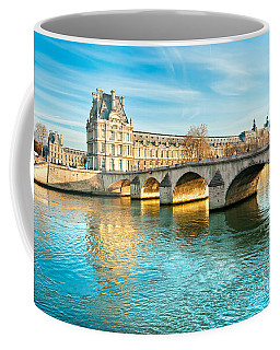 Louvre Museum And Pont Royal - Paris  Coffee Mug