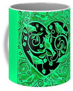 Love Birds, 2012 Woodcut Coffee Mug
