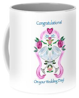Coffee Mug featuring the digital art Love Birds White Wedding by Christine Fournier