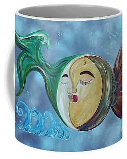Coffee Mug featuring the painting Love Connect - You Are My Moon And Sun by Eloise Schneider