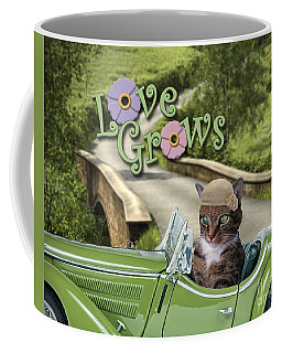 Coffee Mug featuring the digital art Love Grows by Kathy Tarochione