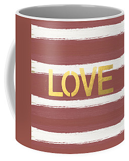 Love In Gold And Marsala Coffee Mug