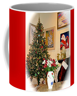 Love In Our Hearts And Santa In The Corner Coffee Mug