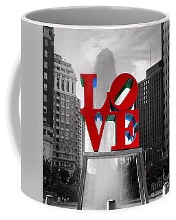 Love Is Always Black And White Square Coffee Mug