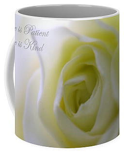 Love Is Patient Coffee Mug by Patti Whitten