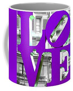 Love Philadelphia Purple Coffee Mug