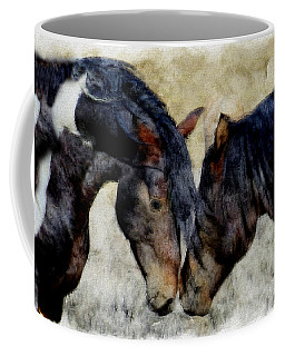 Coffee Mug featuring the painting Love Will Keep Us Together - Painting by Ericamaxine Price