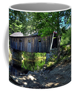 Coffee Mug featuring the photograph Lovejoy Covered Bridge by Mel Steinhauer