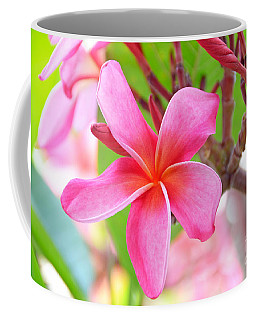 Coffee Mug featuring the photograph Lovely Plumeria by David Lawson