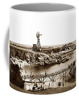 Lovers Point Beach And Old Wooden Pier Pacific Grove August 18 1900 Coffee Mug
