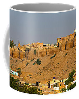 Low Angle View Of A Fort On Hill Coffee Mug