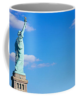 Low Angle View Of A Statue, Statue Coffee Mug