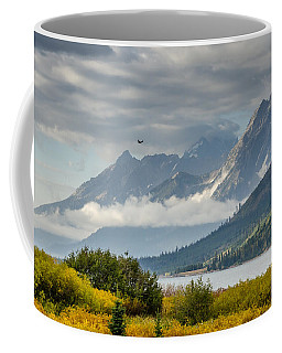 Low Clouds On The Teton Mountains Coffee Mug