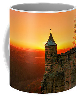 Low Sun On The Fortress Koenigstein Coffee Mug
