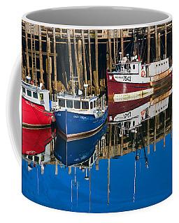 Boats And Reflections At Low Tide On Digby Bay Nova Scotia Coffee Mug