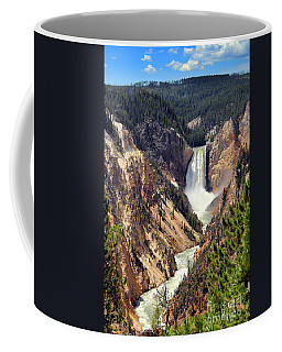 Coffee Mug featuring the photograph Lower Falls Of Yellowstone by Jemmy Archer