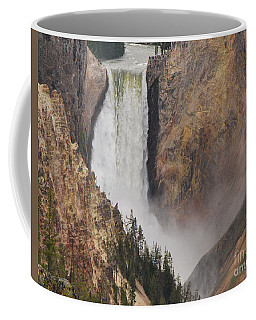 Coffee Mug featuring the photograph Lower Falls - Yellowstone by Mary Carol Story
