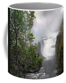 Coffee Mug featuring the photograph Lower Mesa Falls by Leland D Howard
