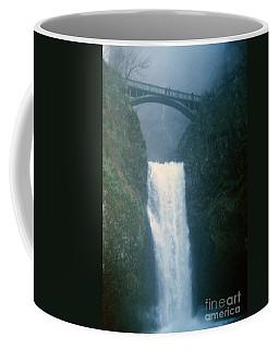 Lower Multnomah Falls Through The Mist Coffee Mug