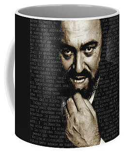 Luciano Pavarotti Coffee Mug by Tony Rubino