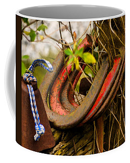 Coffee Mug featuring the photograph Lucky Horseshoes by Jordan Blackstone