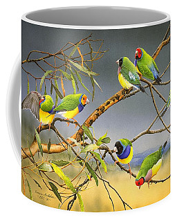 Lucky Seven - Gouldian Finches Coffee Mug