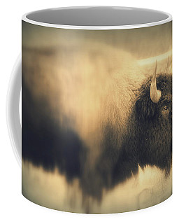 Coffee Mug featuring the photograph Lucky Yellowstone Buffalo by Lynn Sprowl