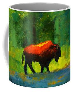 Lumbering Coffee Mug by Nancy Merkle