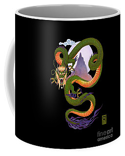 Lunar Chinese Dragon On Black Coffee Mug