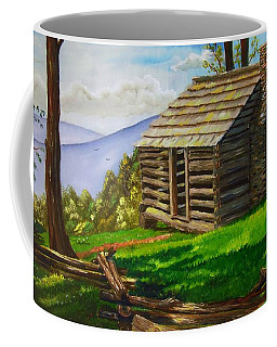 Lunch At An Old Cabin In The Blue Ridge Coffee Mug