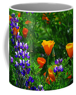 Lupines And Poppies Coffee Mug
