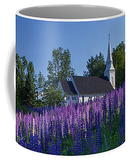 Lupines At St. Matthews In Sugar Hill Coffee Mug