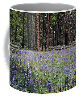 Lupines In Yosemite Valley Coffee Mug by Lynn Bauer
