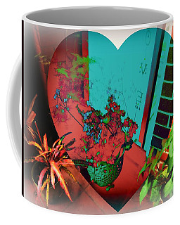 Coffee Mug featuring the mixed media Luv This Space by Leanne Seymour