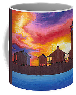 Lydia Anne Lighthouse At Sunset Coffee Mug