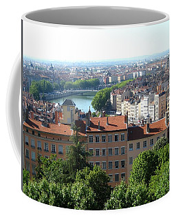 Coffee Mug featuring the photograph Lyon From Above by Dany Lison