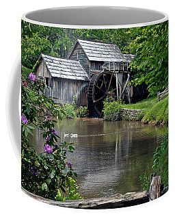 Coffee Mug featuring the photograph Mabry Mill In May by John Haldane