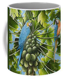 Macaw Parrots In Papaya Tree Coffee Mug