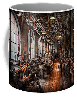 Machinist - A Fully Functioning Machine Shop  Coffee Mug by Mike Savad