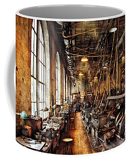 Machinist - Machine Shop Circa 1900's Coffee Mug by Mike Savad