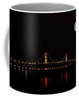 Mackinac Bridge And Moon Coffee Mug