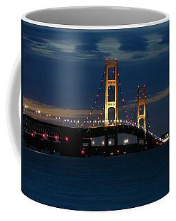 Mackinac Bridge At Dusk Coffee Mug