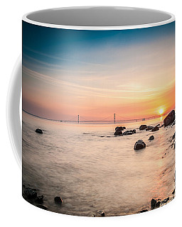 Coffee Mug featuring the photograph Mackinac Sunrise by Larry Carr