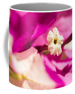 Coffee Mug featuring the photograph Macro Bougainvillea Bloom 2 by Leigh Anne Meeks