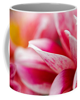 Coffee Mug featuring the photograph Macro Image Of A Pink Flower by Nick  Biemans