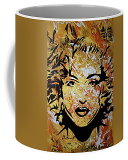Coffee Mug featuring the painting Maddona by Blake Emory