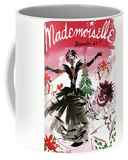 Mademoiselle Cover Featuring A Doll Surrounded Coffee Mug