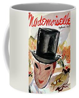 Mademoiselle Cover Featuring A Female Equestrian Coffee Mug